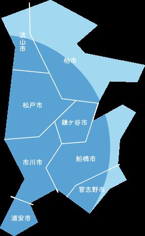 千葉県対応地域マップ