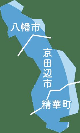 京都府対応地域マップ