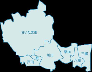 埼玉エリア地図