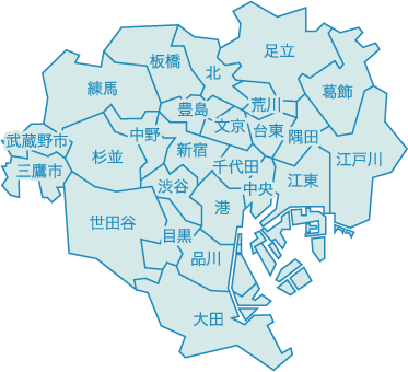 東京エリア地図